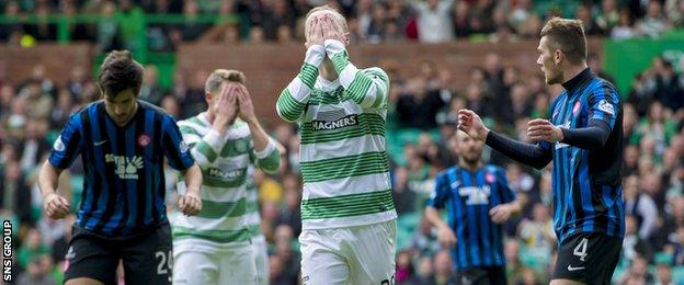 Celtic spurned several good opportunities to score on Sunday