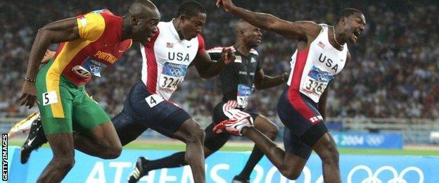Justin Gatlin at the 2004 Athens Olympics