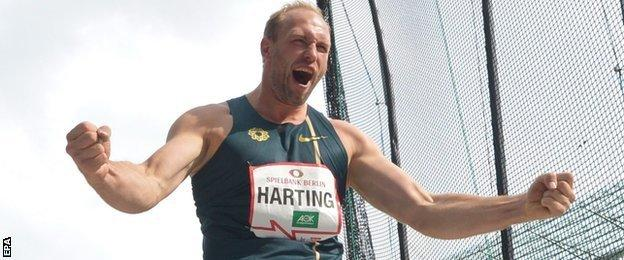 Harting took decisive action to show his disgust with the IAAF and Gatlin