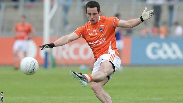 Aaron Kernan won the provincial title with Armagh four times between 2005 and 2008