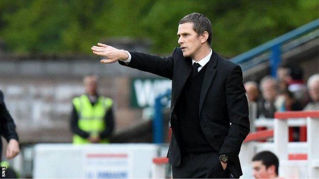 East Fife manager Gary Naysmith