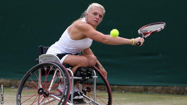 British wheelchair tennis player Jordanne Whiley