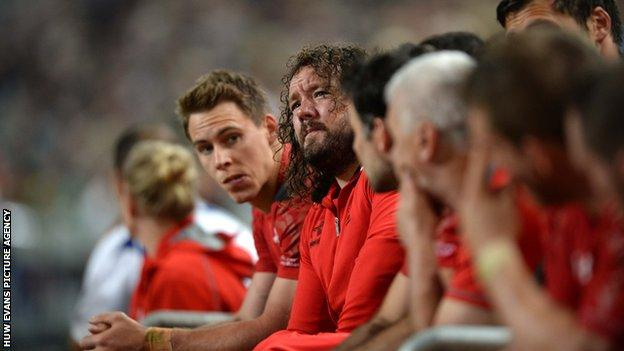 Adam Jones had to watch from the bench during Wales' 2014 tour to South Africa
