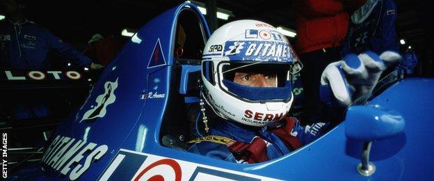 Rene Arnoux driving for Ligier in 1989