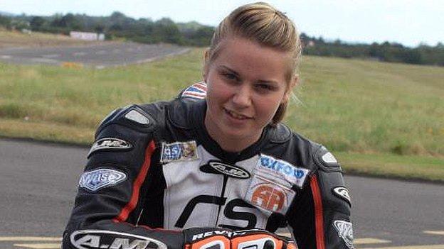 MotoGP: Can teenage British biker girl Georgina Polden make it? - BBC Sport