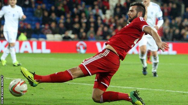 Joe Ledley will be key for Wales in midfield with Aaron Ramsey and Joe Allen injured