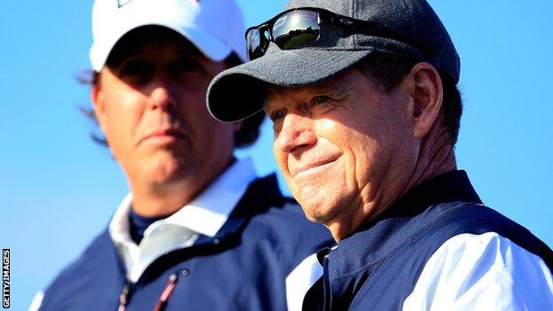 Tom Watson and Phil Mickelson