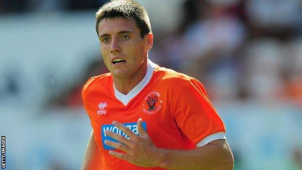Blackpool striker Bobby Grant