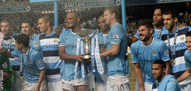 Manchester City win Asia Trophy 2013