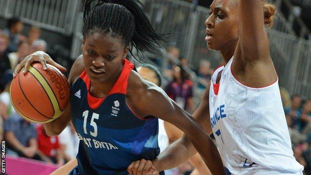 Temi Fagbenle of GB Women's Basketball