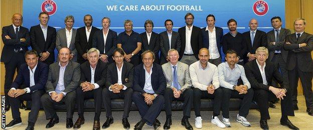 Uefa's elite coaches meet at Nyon