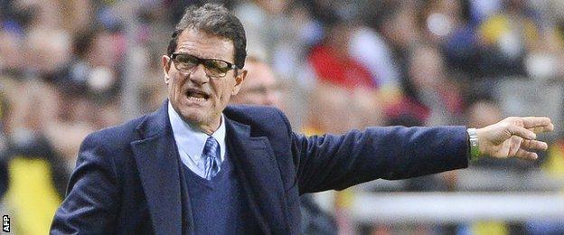 Former England manager Fabio Capello