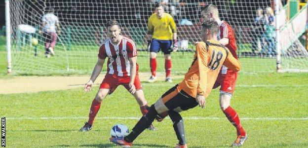 Beltinge FC in action in the Canterbury and District League
