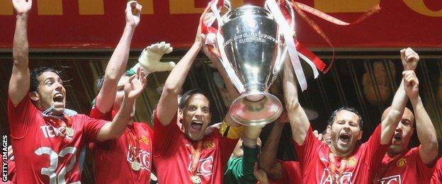 Manchester United win Champions League in 2008