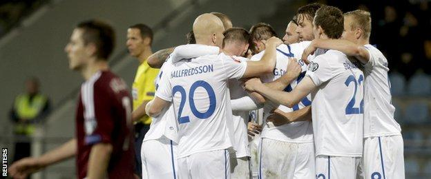 Iceland beat Latvia 3-0
