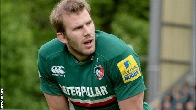 Leicester and England flanker Tom Croft