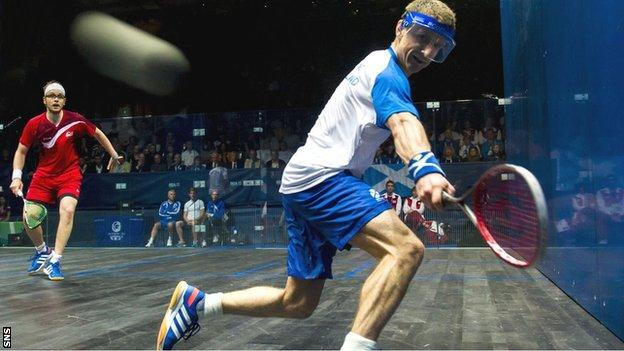 Scotland's top male squash player Alan Clyne