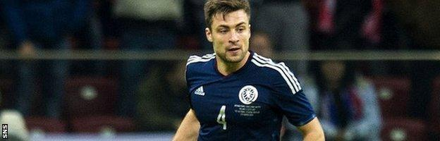Scotland centre back Russell Martin