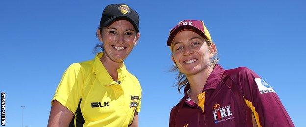 Western Australia skipper Charlotte Edwards and Queensland captain Jodie Fields