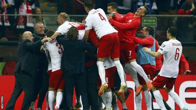 Poland celebrate