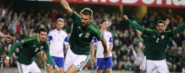 Gareth McAuley set Northern Ireland on their way with his fifth international goal