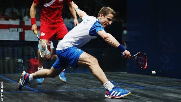 Scottish squash player Alan Clyne