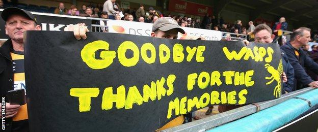 Wasps fans say goodbye as the club prepares to move to Coventry