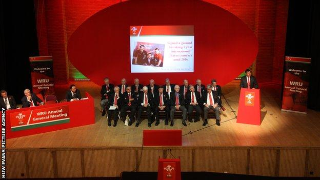 The Welsh Rugby Union's 2013 AGM was held in Port Talbot