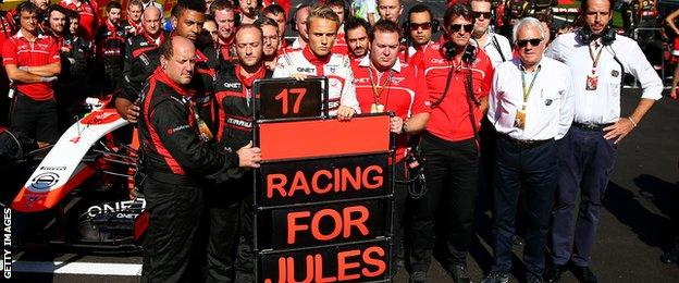 Marussia team at the Russian GP