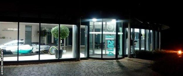 The Mercedes base in Brackley