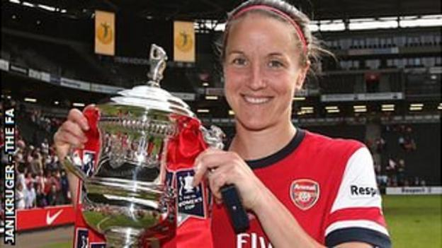 The FA Cup was Casey Stoney's first major trophy since 2006