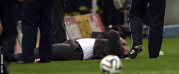 Panathinaikos manager Yannis Anastasiou