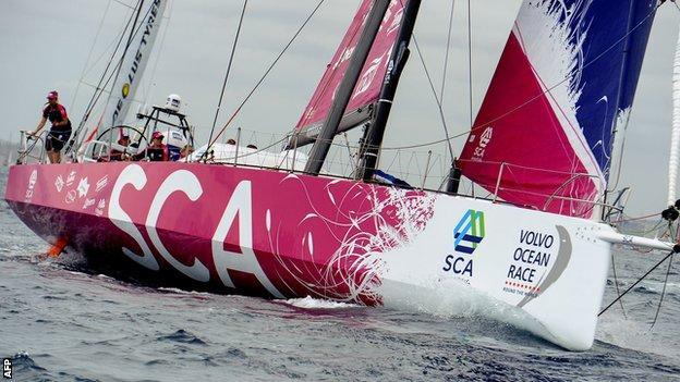 Team SCA set sail