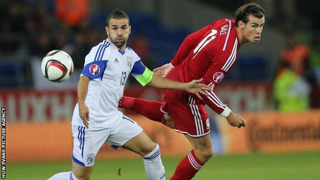 Gareth Bale in action against Cyprus