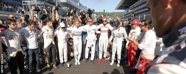 F1 drivers in Russia