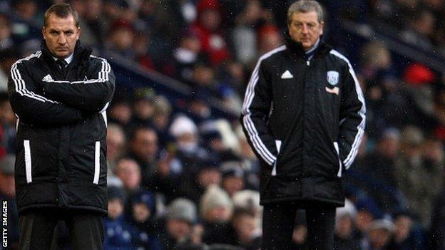 Brendan Rodgers (left) and Roy Hodgson