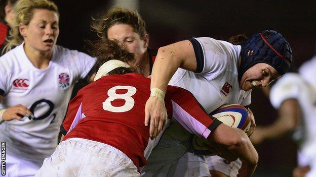 England and Wasps prop Claire Purdy