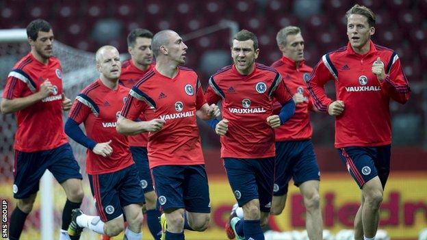 Scotland skipper leads the way at training in Warsaw