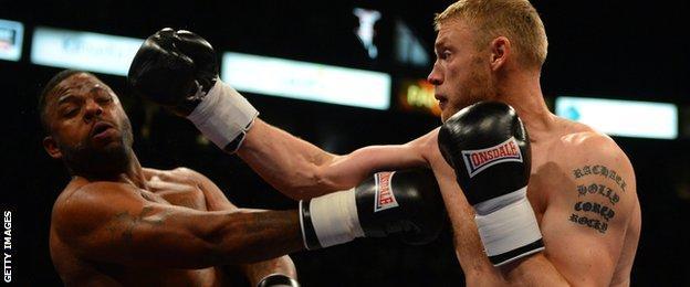 Andrew Flintoff fighting Richard Dawson
