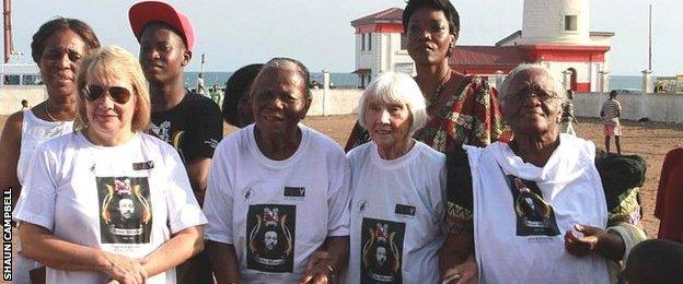 Some of Wharton's descendants in Ghana, October 2012