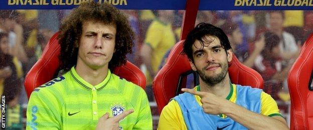 David Luiz and Kaka