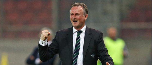 Michael O'Neill becomes the first NI manager to lead his side to three wins at the start of a campaign