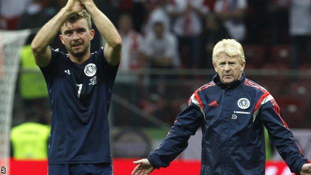 Scotland midfielder James Morrison (left) and manager Gordon Strachan