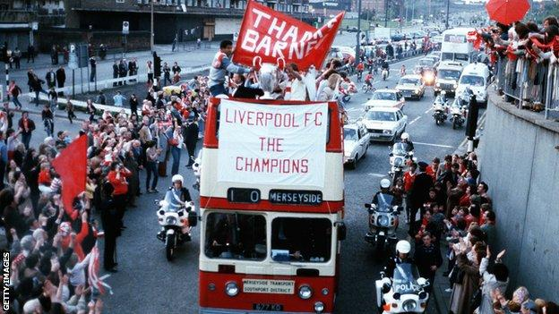 Liverpool bus parade