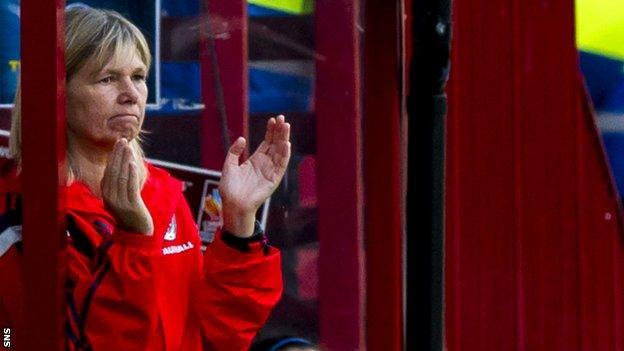 Scotland women's head coach Anna Signeul