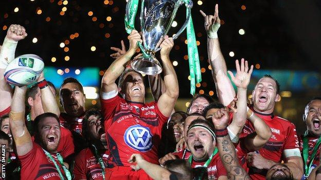 Toulon celebrate winning the 2014 Heineken Cup