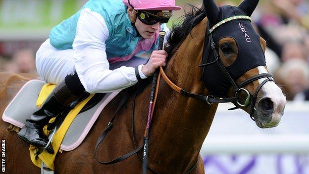 James Doyle riding Noble Mission win The Betfair Price Rush Huxley Stakes at Chester racecourse in May