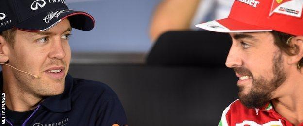 Sebastian Vettel looks to be replacing Fernando Alonso in the Ferrari seat in 2015