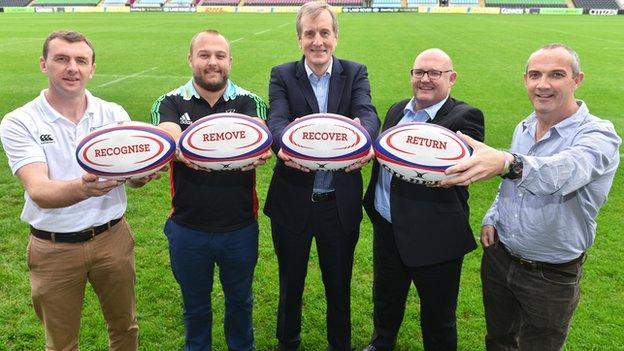 (L-R) Richard Bryan, Mark Lambert, Simon Kemp, Phil Winstanley, Conor O'Shea.