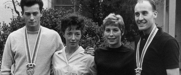 Lynn Davies, An Packer, Mary Rand and Ken Matthews